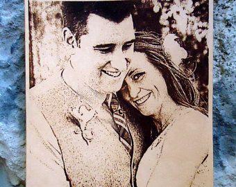 Foto de la boda grabado de cuero cuero personalizado grabado