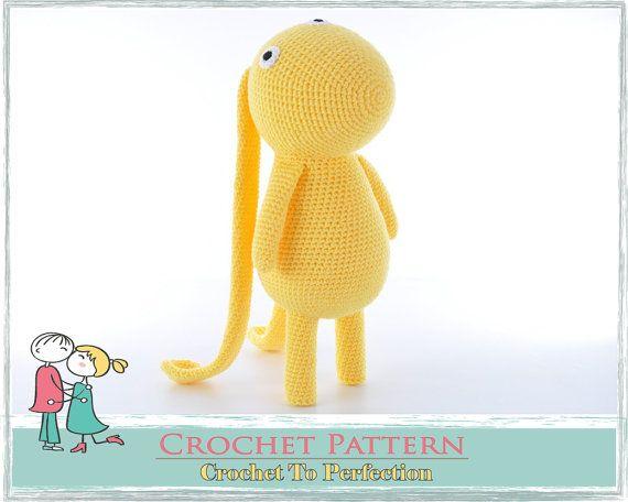 Amigurumi PATTERN LARGE Beegu Alien Crochet by TatieSoftToys