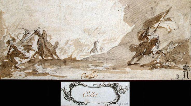 Jacques Callot, battle drawings - Battle of Cavalrymen
