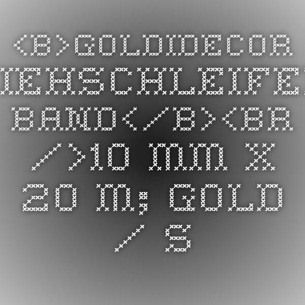 <b>GoldiDecor Ziehschleifen-Band</b><br />10 mm x 20 m; gold / silber; Lamée, uni-795255-1g-9609-M