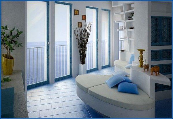 Blue-seating-white-oval-sofa-open-idea livingroom