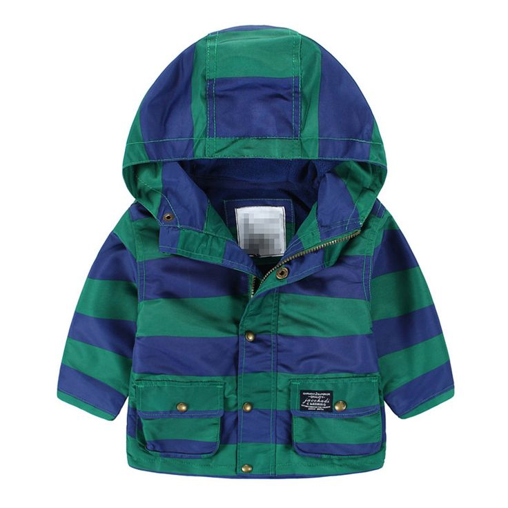 Широкий полоса верхняя одежда 2016 зима-мужчин детская одежды ребенка детей на открытом воздухе мальчики полосатый куртка с капюшоном плюс бархатная куртка