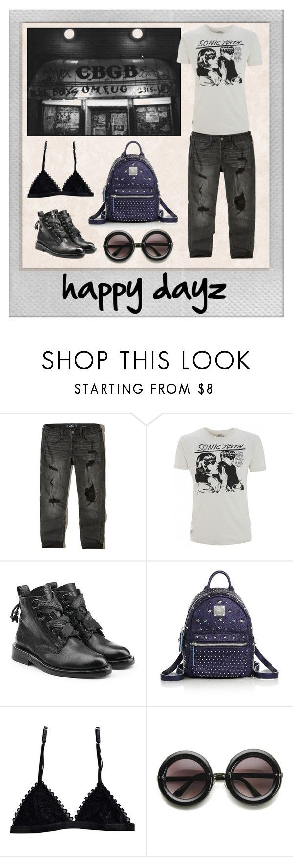 """happy dayz"" by borntobemyself on Polyvore featuring moda, Polaroid, Hollister Co., Zadig & Voltaire, MCM y ZeroUV"
