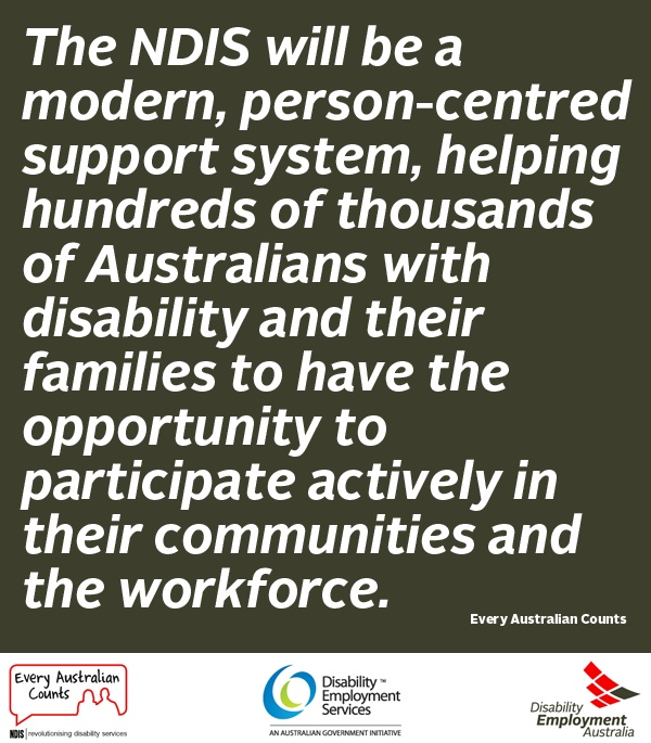 In support of the NDIS