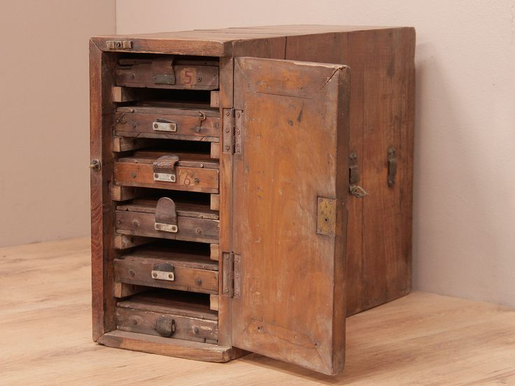 This vintage printer's storage cabinet is the perfect piece for storing important documents without compromising on style. www.scaramangashop.co.uk