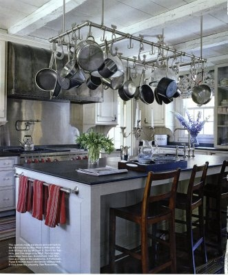 Gotta Love This Hanging Pot Rack Idea. SPACE SAVER! Easy For Storage, Not