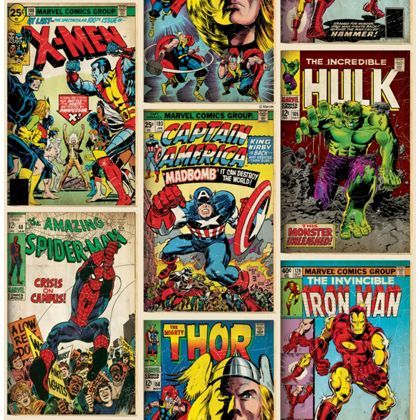 Graham and Brown Marvel Action Heroes Wallpaper - Multi at Homebase -- Be inspired and make your house a home. Buy now.