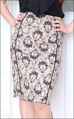 Pencil Skirt w/ Piping [BSS1421] - $34.99 : Mikarose Fashion, Reinventing Modest Fashion