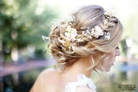 wild flowers in hair