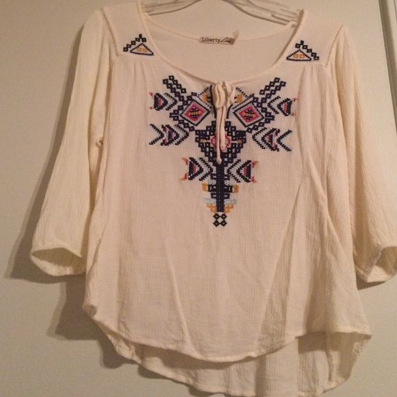 Aztec Shirt from Buckle Really comfortable and goes really great with brown boots!! Tops Blouses