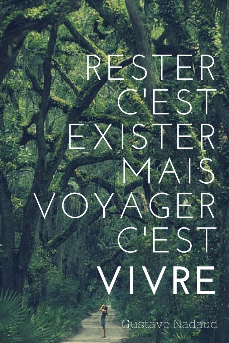 Rester c'est exister, mais voyager c'est vivre - Gustave Nadaud #Citation #Voyage #Voyager #Vivre #GustaveNadaud #Exister Plus
