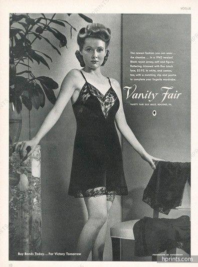 Vanity Fair Lingerie 1942 Nightgown Vintage Lingerie