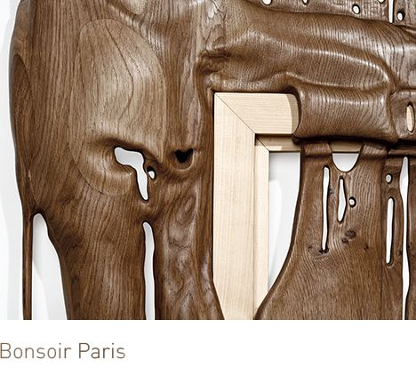 Bonsoir Paris: DURAMEN is a series of handmade wooden sculptures.