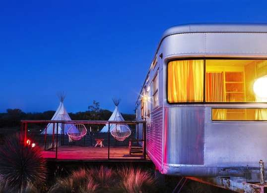 El Cosmico - the height of glamping - 18 acres of trailers, tents and teepee hotels