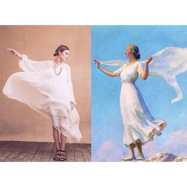 """""""Mi piace"""": 2,897, commenti: 59 - Art-lexa Chung (@artlexachung) su Instagram: """"""""The South Wind (also known as The Breezy Day)"""" by Charles Courtney Curran (c.1917) / Alexa Chung…"""""""