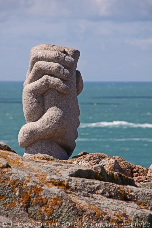 Evocative Saint Malo memorial in Jersey (Channel Islands) commemorating a ferry rescue