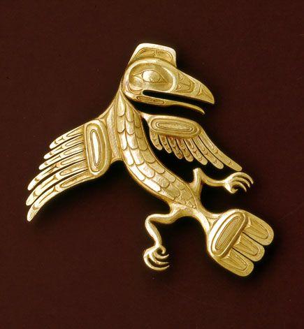 Raven Brooch: Raven design after Charles Edenshaw ~ Bill Reid (Haida) c. 1954