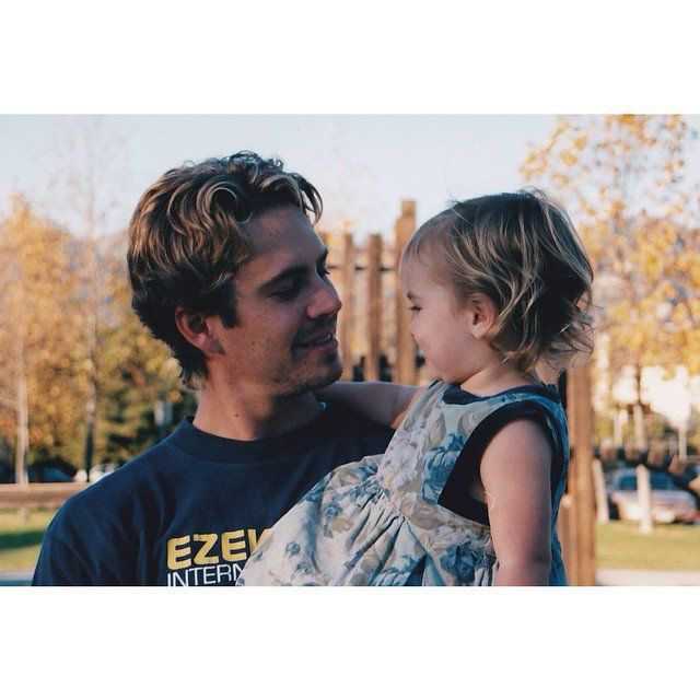 Pin for Later: Go Back in Time With These Adorable Throwback Photos of Celebrities With Their Dads Meadow Walker Meadow shared this beautiful photo and her and her late father in celebration of his birthday.