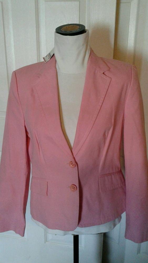 Zara Basic Pink Blazer Jacket Lined Ladies Women'S | eBay