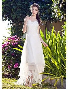 Lanting Bride® A-line / Princess Plus Sizes / Petite Wedding Dress - Classic