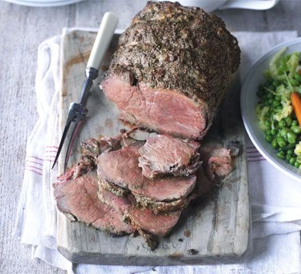 Roast beef with caramelised onion gravy. Rare roast topside is the ultimate centrepiece - make it extra special with Marmite and sweet onion gravy