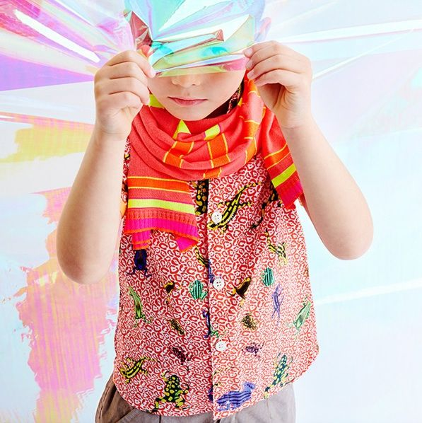 Anne Kurris spring 2014 with a boys random bug and animal print shirt