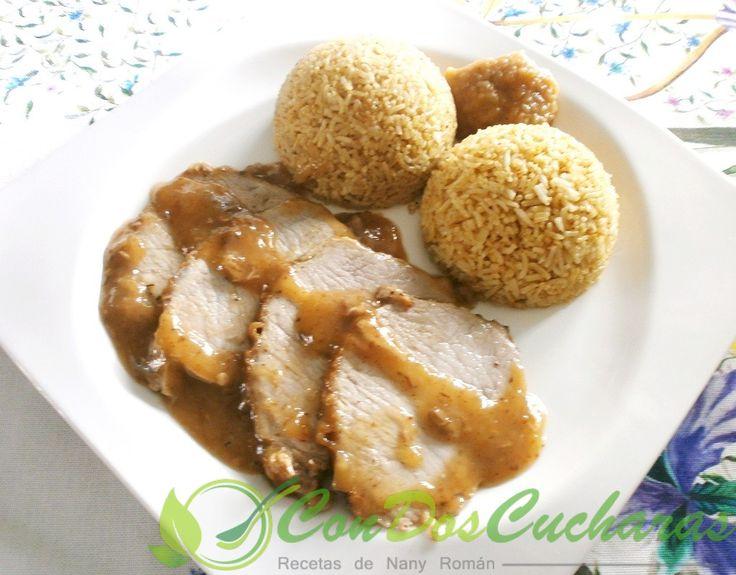 ConDosCucharas.com Lomo de cerdo con manzanas - ConDosCucharas.com