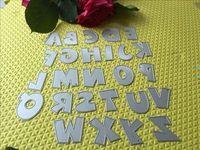 26 lettere e Scrapbook Muore Metallo Catter Etchng Stencil Lase biglietto di auguri COPERTURA Fustellatura