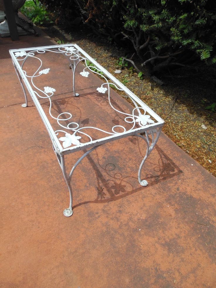 Coffee Table Salterini Vintage Sold Vintage Wrought Iron Patio Furniture Pinterest Tables