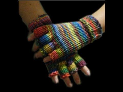 Half Finger Loom Knit Gloves - hopefully I will be able to figure out the stupid thumb