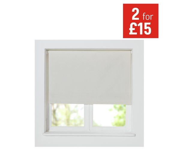 Buy HOME Thermal Blackout Roller Blind - 2ft - Cotton Cream at Argos.co.uk for small window