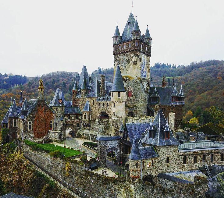 Cochem castle in Germany by stumbras.aivaras on instagram