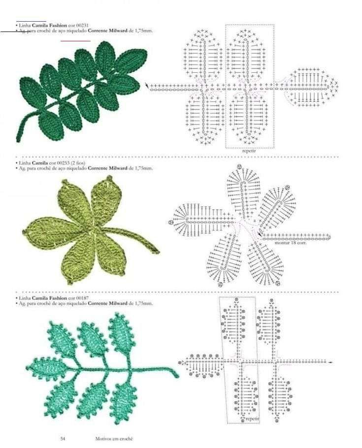 Pin By Yuzhe Zhang On Diy 和手作 In 2020 Crochet Leaves Irish Crochet Flowers Crochet Leaf Patterns