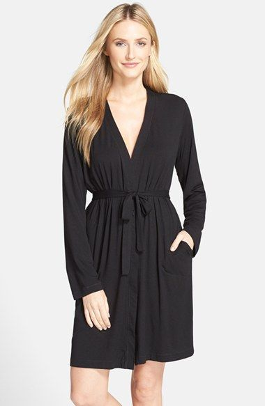 78.00 DKNY 'City Essentials' Short Robe available at #Nordstrom