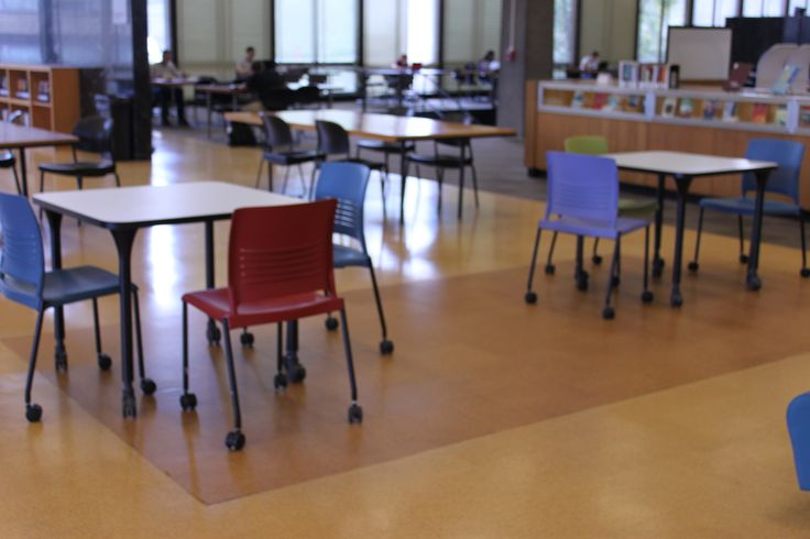 [good chairs - on wheels that stack?] Flexible seating at Paul V. Galvin library