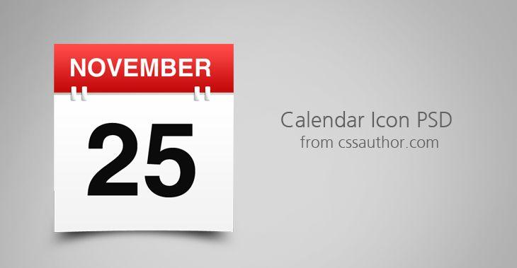 Calendar Icon PSD from cssauthor.com