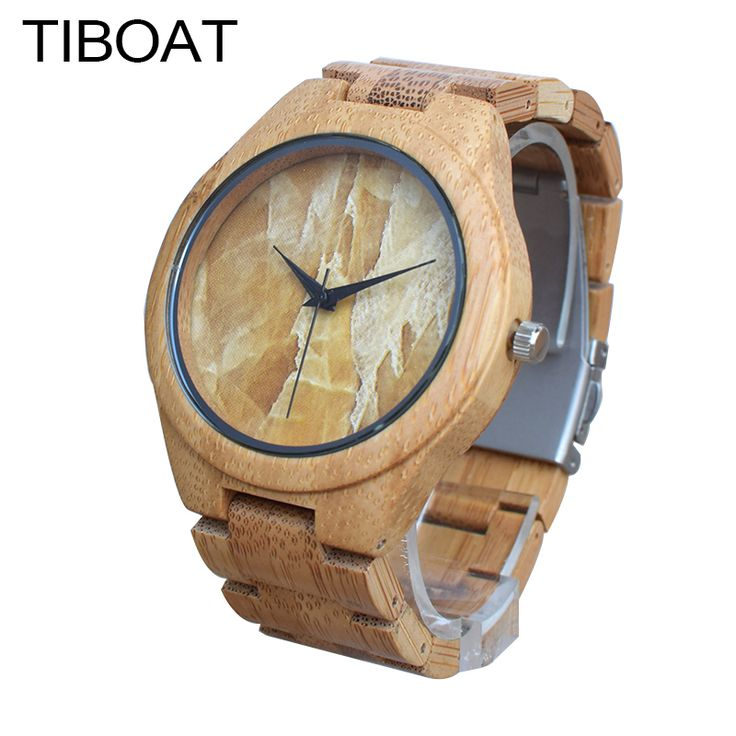 TIBOAT Men Watches 2017 Luxury Brand Marble Turtle Stone Lines Face Nature Wood Bamboo Bracelet Bangle Quartz Wristwatch Gift //Price: $42.38 & FREE Shipping //     #hashtag4