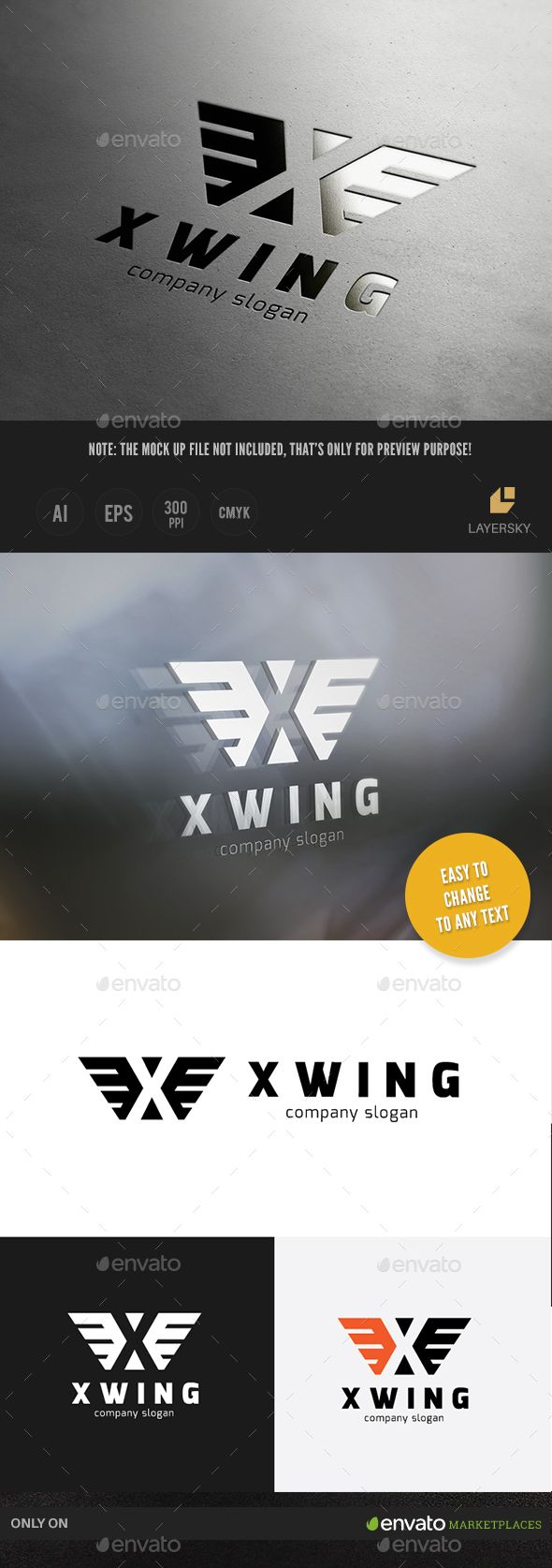 X Wing Logo Template Vector EPS, AI. Download here: http://graphicriver.net/item/x-wing-logo/15069031?ref=ksioks