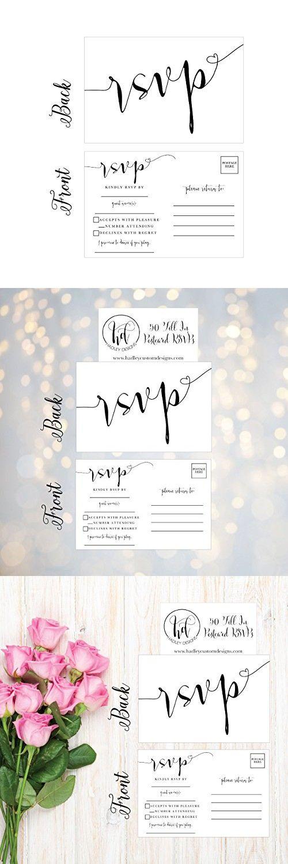437 best wedding invitations images on pinterest 50 blank rsvp cards rsvp postcards no envelopes needed response card rsvp reply stopboris Images