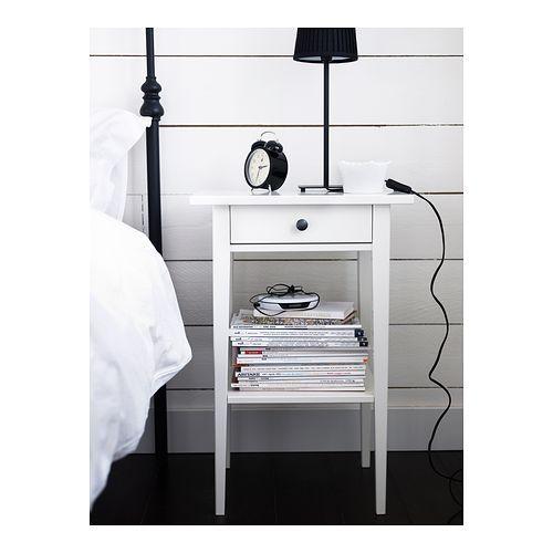 HEMNES Mesilla de noche - blanco - IKEA