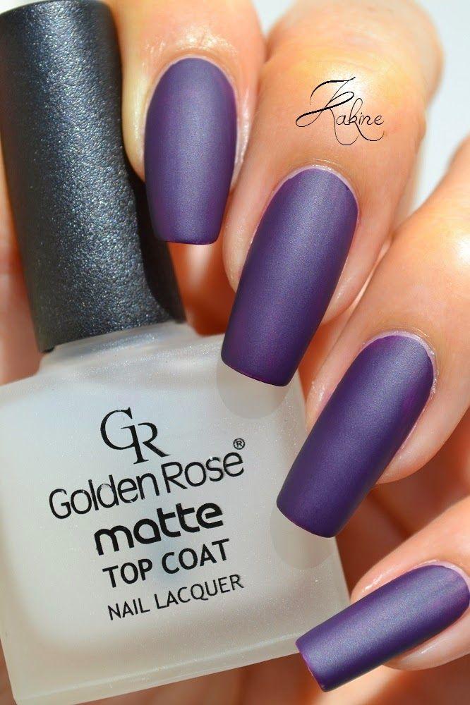 Kakine Nail Art: GOLDEN ROSE Matte Top Coat
