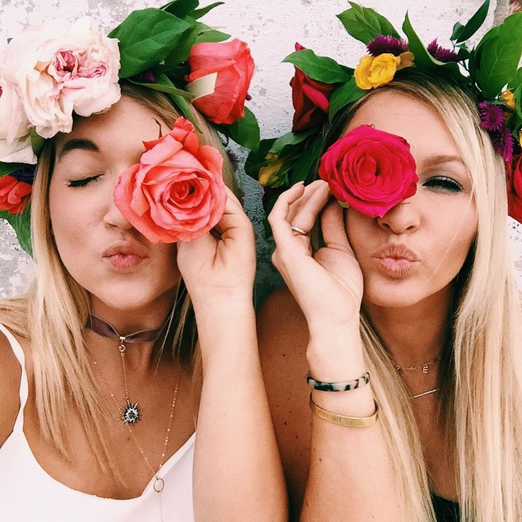 flower crowns and layered jewelry
