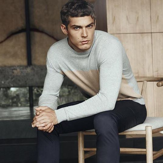 """: @davidjonesstore """"In a lightweight knit and crisp pair of chinos, you're…"""