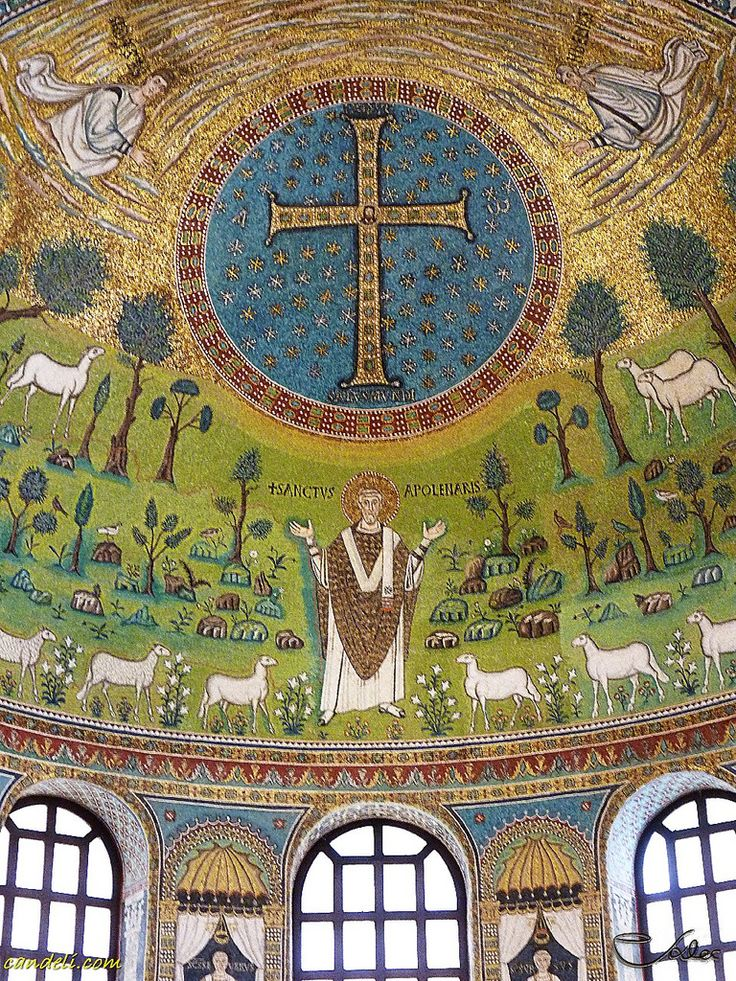The Basilica of Sant' Apollinare in Classe is an important monument of Byzantine art near Ravenna, Italy ~  Ravenna Romagna Italy ~ mosaics