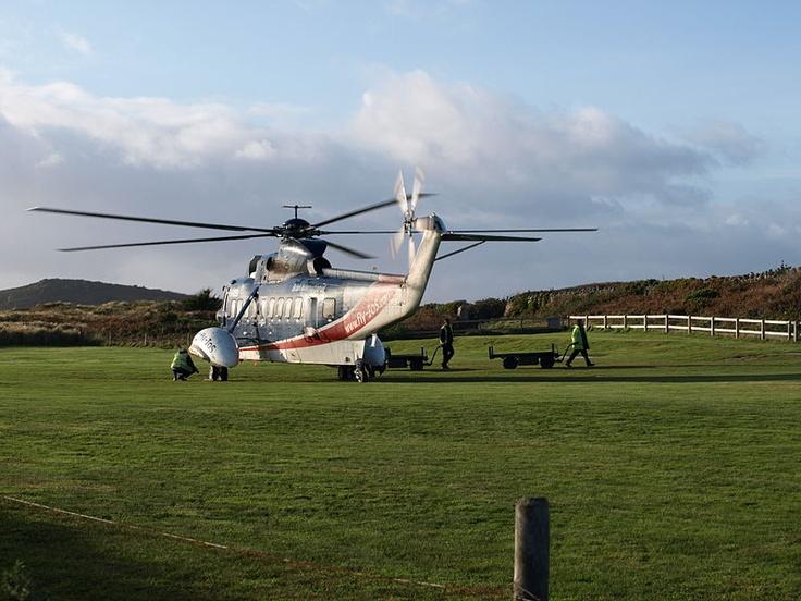 G-BCEB departing Tresco Heliport