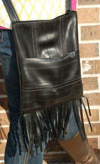 Recycled Rubber Fringed