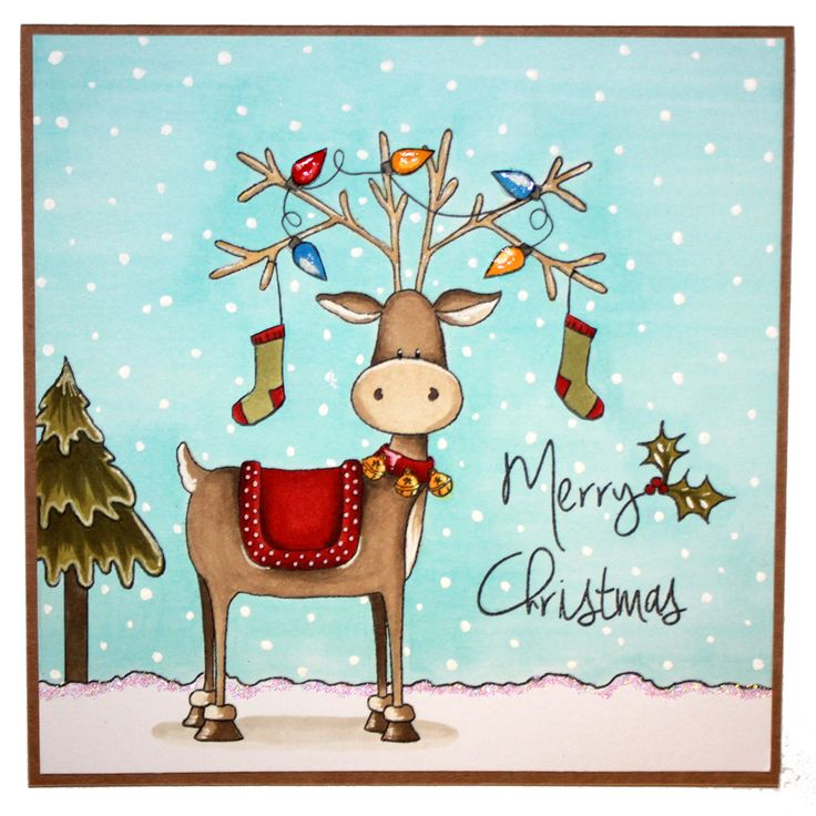 This is the gorgeous new Rufus the Reindeer set from Hobby Art. Clear set contains 15 stamps. Overall size of set - 100mm x 260mm approx. All our clear stamps are made with photopolymer resin. This Stunning card was made by Becki Mayes
