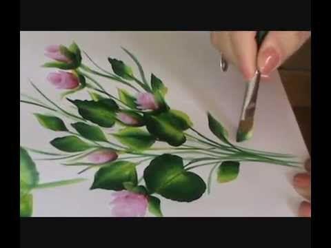 ▶ HOJAS - LEAVES ( PINTURA MULTICARGA - ( PINTURA DECORATIVA- DECORATIVE PAINTING) - YouTube