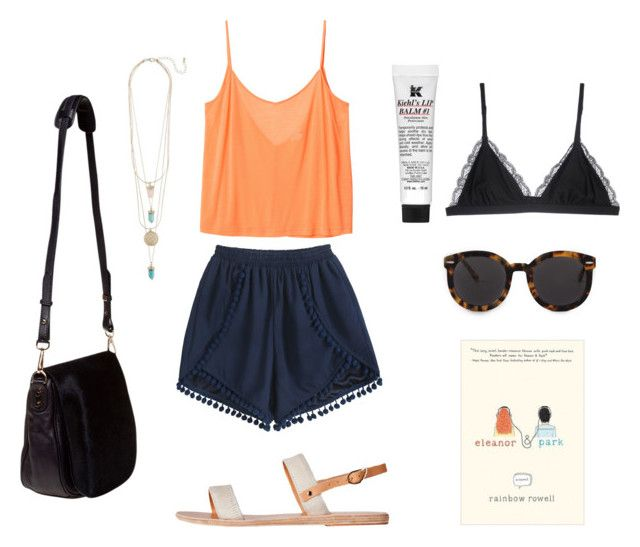 June is over by iyafries on Polyvore featuring Monki, Cosabella, Ancient Greek Sandals, Nomadic, Karen Walker and Kiehl's