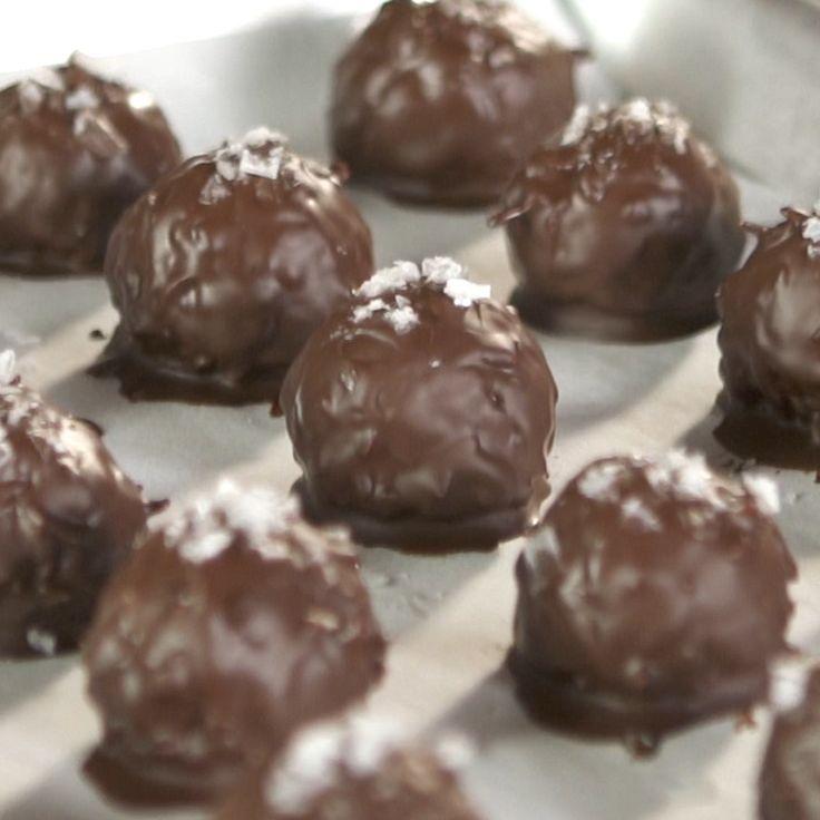 Coconut And Dark Chocolate Bites With Sea Salt